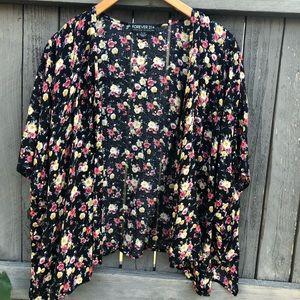 Forever 21 Floral Kimono XL/1X
